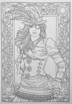 Creative Haven Steampunk Fashions Coloring Book (Creative Haven Coloring Books): Marty Noble: 0800759797486: Amazon.com: Books