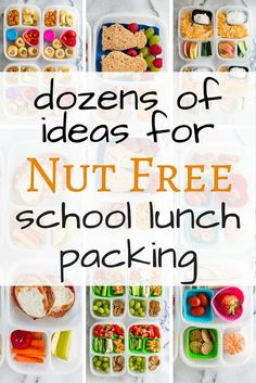 Dozens of great ideas for nut free school lunch packing. If you are running out of ideas for sending lunch to your nut free school - look no further. WhatLisaCooks has you covered with dozens of her super easy lunch ideas.
