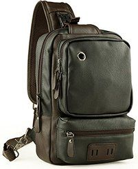 Coach f70360 thompson black leather sling bag backpack messenger ...