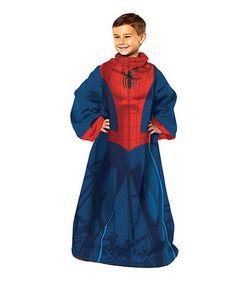 Spider-Man Sleeved Blanket - Kids #zulily #zulilyfinds