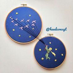 """Find and save images from the """"Le Petit Prince👑"""" collection by Sony Domm (SonyDomm) on We Heart It, your everyday app to get lost in what you love. Embroidery Materials, Embroidery Hoop Art, Hand Embroidery Patterns, Ribbon Embroidery, Cross Stitch Embroidery, Beginner Embroidery, Simple Embroidery, Machine Embroidery, Bordados E Cia"""