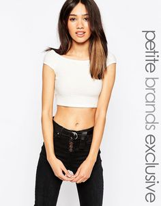 Buy it now. Vero Moda Petite Bardot Textured Crop - Cream. Top by Vero Moda Petite, Soft touch jersey, Textured finish, Wide, off-shoulder neckline, Cropped length, Regular fit - true to size, Machine wash, 92% Viscose, 5% Polyester, 3% Elastane, Our model wears a UK S/ EU S/ US XS, Exclusive to ASOS. ABOUT VERO MODA PETITE Chic, modern and Danish, Vero Moda is all about rebooting your wardrobe with fresh basics and suped-up tailoring. Vero Moda Petite brings us the same signature…