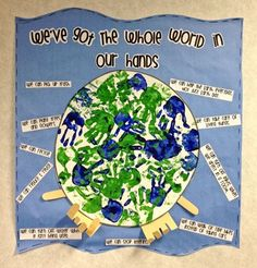 Super cute idea for Earth Day - could be easily made into a circle map with the earth and the middle and the ideas in the circle with names and any books read as the frame of reference.