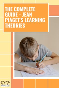 A complete guide to Jean Piaget's learning theories. This guide included cognitive development theory, schemas, stages of cognitive development and so much more! Learning Theories In Education, Brain Based Learning, Learning Theory, Teaching Strategies, Teaching Resources, Teaching Ideas, Secondary Teacher, Primary Teaching, Piaget Theory