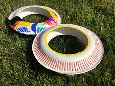 Frisbee aus Pappteller – Basteln mit Kindern