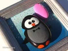 Поделка изделие День рождения Роспись Пингвины в доме Клей Материал природный фото 8
