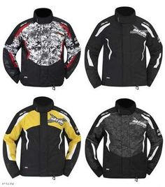Ski Doo Mens x Team Jacket 2013 Black Black w Graphics Yellow White 440582 Ecklund Motorsports $154.99
