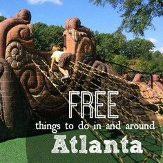 It is possible to have fun without spending a dime. Are you up for the challenge Here is a collection of 50 FREE things to do with in Atlanta with kids. Oh The Places You'll Go, Places To Travel, Places To Visit, Weekend Trips, Day Trips, Weekend Getaways With Kids, Atlanta Travel, Georgie, Destinations