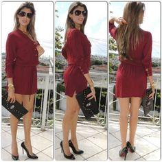Look do dia: vestido vinho by cidinhatrix