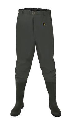 """SPODNIE WĘDKARSKIE DO PASA """"STANDARD"""" Model: SP03 Spodnie do pasa z wgrzanymi na stałe, wysokiej jakości kaloszami. Model produkowany z  wodoochronnej, wytrzymałej tkaniny Plavitex Heavy Duty. Przeznaczone szczególnie dla wędkarzy i rybaków do użytku przy wszelkich pracach rybackich. Zapewniają skuteczną ochronę przed wodą. Technika obustronnego zgrzewania zwiększa wytrzymałość szwów."""