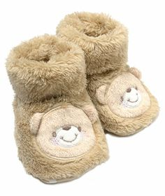 Baby Unisex Teddy Bear Booties (One Size) | Oopsy daisy, it looks like the piece has sold out, but we're always adding new things to love on our site at hallmarkbaby.com!