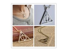 Deathly Hallows Metal Pendant Necklace