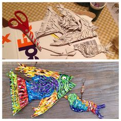 From an old #FedEx box to #UpCycled ornaments! Cardboard never looked so good! #EcoArt #Recycle #Reuse