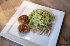 EGOSHE.dk - En madblog med South Beach opskrifter og andet godt...: Ravioli med savoykål og sesamdeller