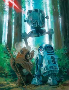 Wicket and R2-D2 by Hugh Flemming