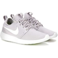 Nike Nike Roshe Two Sneakers (104 AUD) ❤ liked on Polyvore featuring shoes, sneakers, grey, gray shoes, grey shoes, grey sneakers, nike footwear and nike shoes