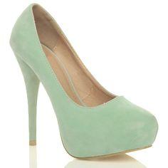 Mint Green Suede High Heels £21.98