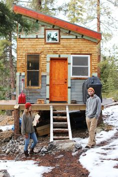 Lots of photos. Real people living in a tiny home. Tim and Hannah's Affordable DIY Self-Sustainable Micro Cabin