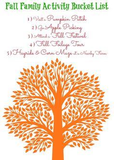 Fall Family Activity Bucket List