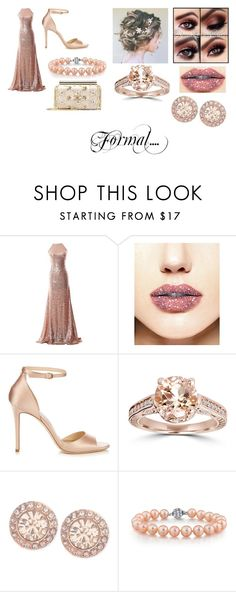 """""""Formal..."""" by blackwidow-xoxo on Polyvore featuring Jimmy Choo, Bliss Diamond, Givenchy, Oscar de la Renta and GoingPaleColor"""