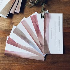 Juicy wedding invitations dipped in fruit and vegetable juice