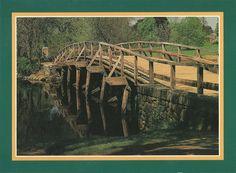 The north bridge, Minute Man National Historical Park, Concord, Massachusetts, USA