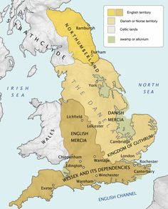 From 800 AD, there had been waves of Danish raids on the coastlines of the British Isles. In instead of raiding, the Danes landed a large army in East Anglia, with the intention of conquering the four Anglo-Saxon kingdoms of England History Of England, Uk History, European History, British History, History Facts, American History, Anglo Saxon History, Ancient History, Ancient Aliens
