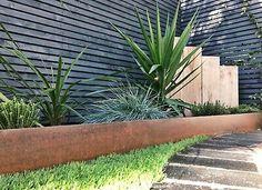 Metal Garden Edging, Steel Edging, Garden Paths, Garden Beds, Lawn And Garden, Steel Landscape Edging, Modern Garden Design, Contemporary Garden, Modern Design