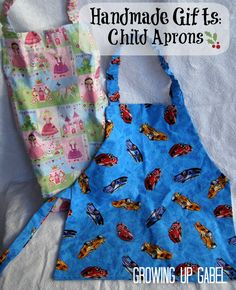 free pattern and tutorial for children's aprons