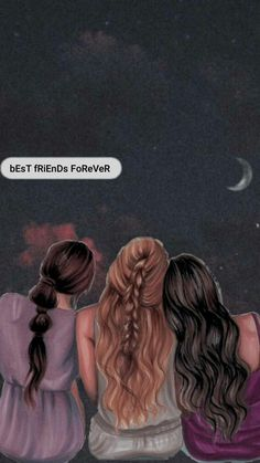 Best Friends Cartoon, Friend Cartoon, Cute Friends, Best Friend Drawings, Bff Drawings, Cartoon Girl Images, Girl Cartoon, Friends Sketch, Best Friend Wallpaper