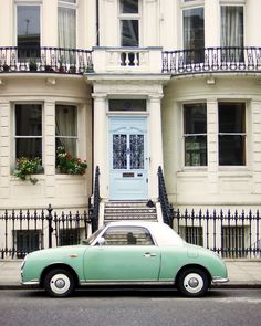 Nissan Figaro and a town house