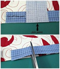 Fashion Tips And Tricks how to join quilt binding.Fashion Tips And Tricks how to join quilt binding Patchwork Quilting, Quilting Tips, Quilting Tutorials, Machine Quilting, Quilting Projects, Sewing Tutorials, Quilts, Beginner Quilting, Rag Quilt