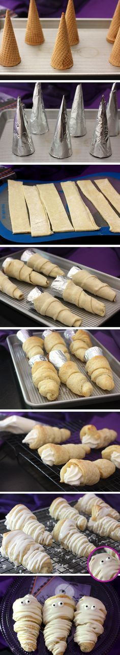 How to Make Halloween Puff Pastry Mummies! Pizzazzerie.com