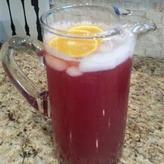 Cranberry Pineapple and Ginger Ale - one of my favs. I never add the sugar though. Alcohol free so it's kid friendly.