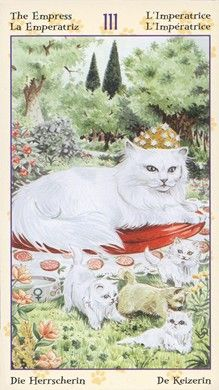 Empress from the Tarot of Pagan Cats