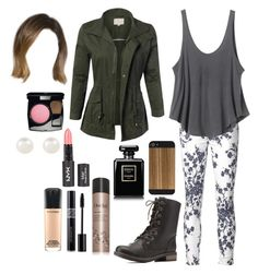 A fashion look from July 2015 featuring jersey tank top, military style jacket and floral jeans. Browse and shop related looks. Oufits Casual, Cute Casual Outfits, Summer Outfits, Summer Clothes, Teen Wolf Malia, Teen Wolf Outfits, Malia Tate, Floral Jeans, Military Style Jackets