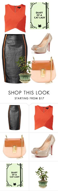 """Untitled #4581"" by hanii-omachiss ❤ liked on Polyvore featuring Jonathan Simkhai, Chloé, Christian Louboutin and Valfré"