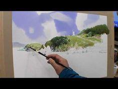 수경쌤의 비밀과외 15편 - 수채화 물 조절 어떻게? (1) how to adjust the amount of water in watercolor painting - YouTube Watercolor Video, Watercolour Tutorials, Watercolor Techniques, Watercolor Landscape, Painting Tips, Painting & Drawing, Watercolor Paintings, Gouache, Art Tutorials