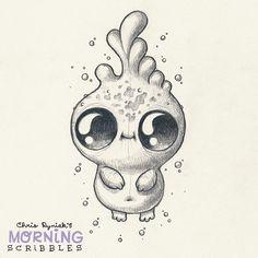 cute art by Chris Ryniak Dewdrop. cute art by Chris Ryniak Dewdrop. Cute Monsters Drawings, Cartoon Drawings, Easy Drawings, Animal Drawings, Drawing Sketches, Monster Drawing, Dibujos Cute, Scribble, Pencil Art