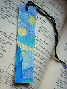 Better catch this one fast!  The other one has just been sold....  Starry Night Inspired Bookmark, 2 of 2 Limited Edition, by FaerieGardenFancies