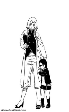 Sarada would be protective over her mama and try to keep men from looking at Sakura because she knows Sasuke will be back soon to be with her mama