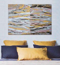 Large Abstract painting. Modern painting. Acrylic on canvas. Eve de la boutique CarlaDorsonStudio sur Etsy