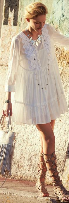 Bermeja Dress, Roman Sandals | Travel. might have to get some again, if they are just right!