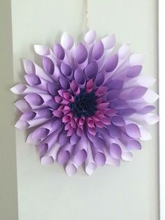 Diy paper flowers 100 layer cake diy paper dahlia and flowers my purple dahlia paper wreath mightylinksfo