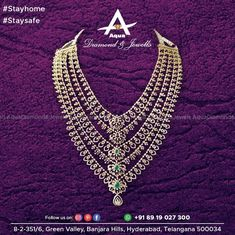 Who loves to repeat their style? No girl likes it. Repeating isn't a shame but it's not a girly affair. To make it a budget friendly and no-repeat of style, our gracious layered diamond necklace can save you. Diamond Choker, Diamond Jewelry, Gold Jewelry, Jewelery, Fine Jewelry, South Indian Jewellery, Indian Jewelry, Book Categories, Bridal Jewellery