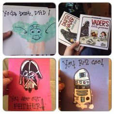 Father's Day Handprint Gift Ideas from Kids - Crafty Morning Here are some creative Father's Day handprint gift and craft ideas that kids can make! Daycare Crafts, Baby Crafts, Toddler Crafts, Kid Crafts, Diy Father's Day Gifts Easy, Father's Day Diy, Diy Gifts, Star Wars Crafts, Daddy Day
