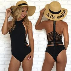 Shop stylish women's swimwear at FABKINI & find tankinis, bikinis, one-piece swimsuits, monokinis & more. Summer Wear, Summer Outfits, Cute Outfits, Summer Time, Lingerie, Ropa Interior Boxers, Cute Bathing Suits, Bathing Suits One Piece, Black One Piece Swimsuit