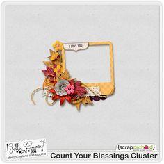 Scrapbooking TammyTags -- TT - Designer - Bella Gypsy,  TT - Item - Frame, TT - Style - Cluster