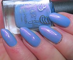 Image of Charity Polish - Sleeping Prince – medium pastel blue with pink shimmer Pastel Blue, Charity, Prince, Nail Polish, Medium, Nails, Image, Finger Nails, Ongles