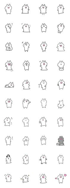 This sticker is cute. You can use it easily. Let's use it and communication with your friend.